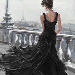 toile-figuratif-014-Toile-40x50cm-petite-robe-noire